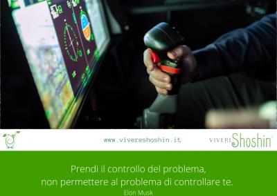 Prendi il controllo del problema, non permettere al problema di controllare te. – Elon Musk