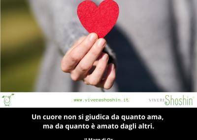 Un cuore non si giudica da quanto ama, ma da quanto è amato dagli altri. – Il Mago di Oz