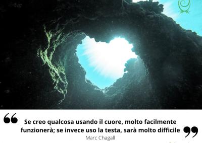 Se creo qualcosa usando il cuore, molto facilmente funzionerà; se invece uso la testa, sarà molto difficile. – Marc Chagall