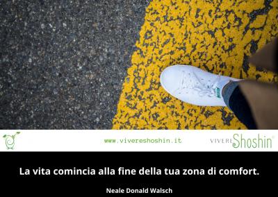 La vita comincia alla fine della tua zona di comfort. - Neale Donald Walsch