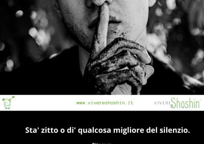 Sta' zitto o dì qualcosa migliore del silenzio. - Pitagora