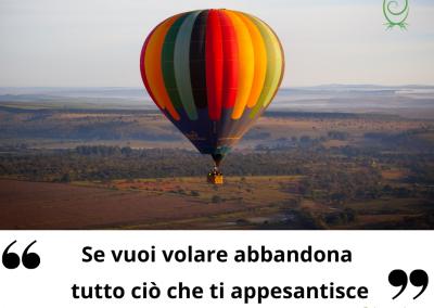 Se vuoi volare abbandona tutto ciò che ti appesantisce. - Buddha