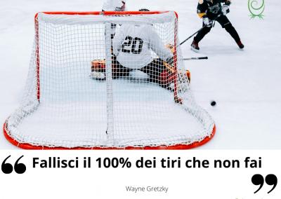 Fallisci il 100% dei tiri che non fai. - Wayne Gretzky