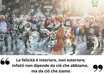 La felicità è interiore, non esteriore; infatti non dipende da ciò che abbiamo, ma da ciò che siamo. - Henry van Dyke