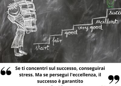 Se ti concentri sul successo, conseguirai stress. Ma se persegui l'eccellenza, il successo è garantito. - Deepak Chopra