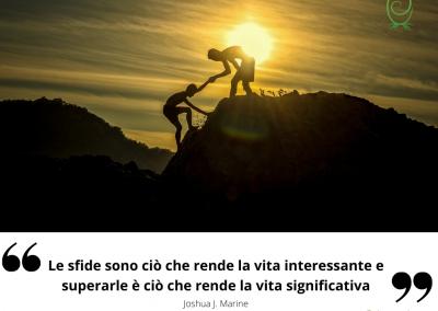 Le sfide sono ciò che rende la vita interessante e superarle è ciò che rende la vita significativa. - Joshua J. Marine